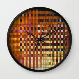 Checkered Reflections I Wall Clock