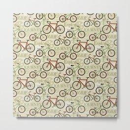 Bicycle Journey Metal Print