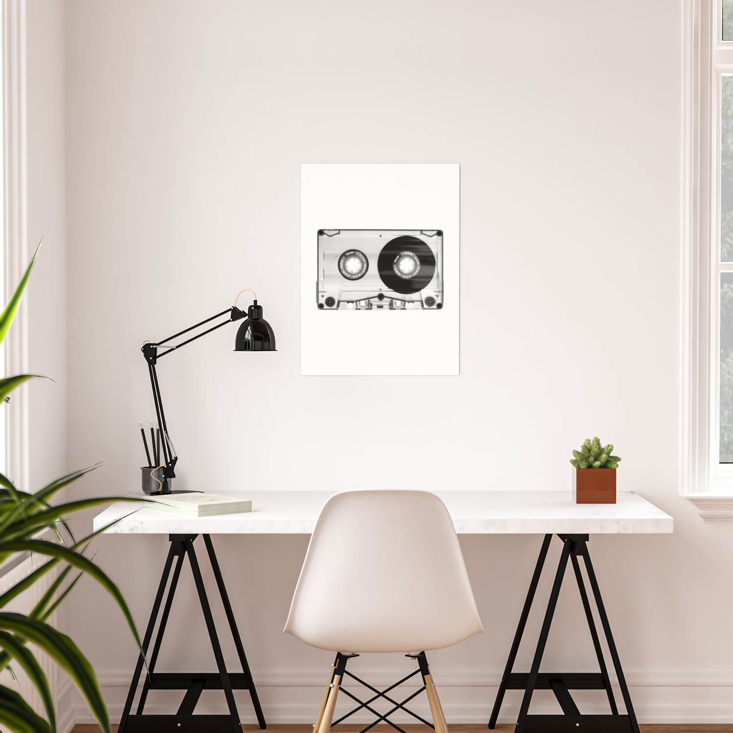 1980 S Retro Black White Vintage 80 S Cassette Eighties Technology Art Print Home Decor Wall Decor Poster By Themotivatedtype Society6
