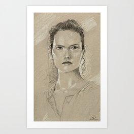 Rey sketch Art Print