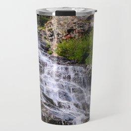 Mountain waterfall, Transfagarasan, Romania, Eastern Europe Travel Mug