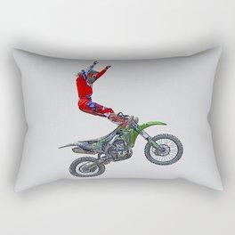 MotoCross Aerial Foot Grab Sports Stunt Rectangular Pillow