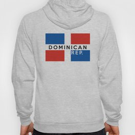 Dominican Republic country flag name text Hoody