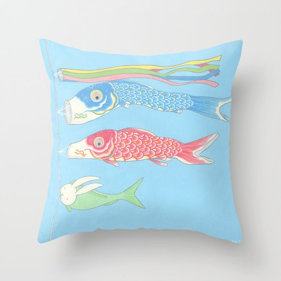 Usagikoinobori Throw Pillow