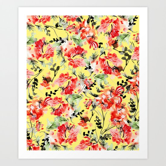 Happiness #society6 #decor #buyart Art Print