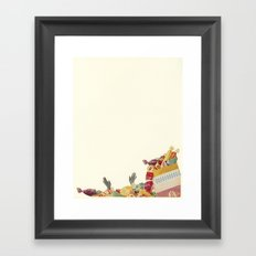 Drowning in Chocolate Framed Art Print