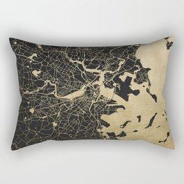Boston Gold and Black Invert Rectangular Pillow