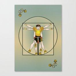 Vitruvian Cyclist Canvas Print