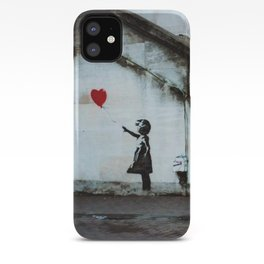 Banksy street art / photograph - girl with red ballon iPhone Case