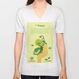 Save Trees Unisex V-Neck