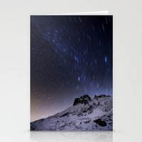 night sky Stationery Cards featuring Night sky by Mila Pechenyakova