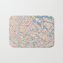 Amsterdam City Map Poster Bath Mat