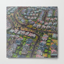 Urban Sprawl Metal Print