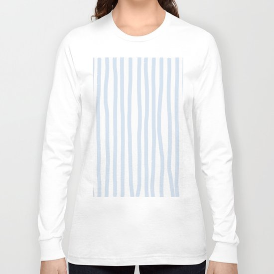 Light Blue Stripes Long Sleeve T-shirt