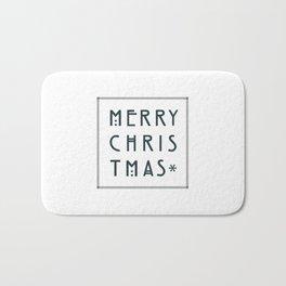 Merry Christmas lettering, Art Noveau style. Bath Mat