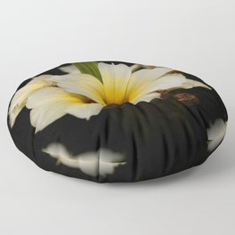 Yellow Mexican Satin Flowers Floor Pillow