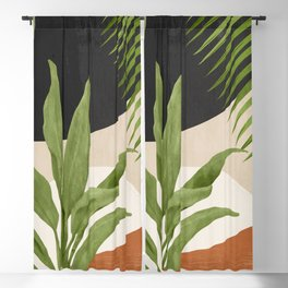 Abstract Art Tropical Leaf 11 Blackout Curtain