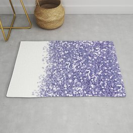 White & Lilac Gradient  Rug