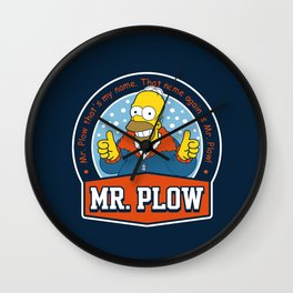 Mr. Plow Wall Clock