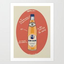 Club-Mate Art Print