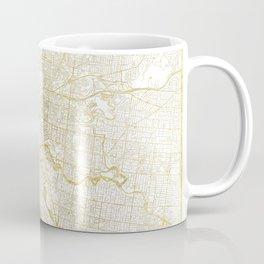 Melbourne Map Gold Coffee Mug