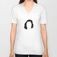 marylin monroe V-neck T-shirts featuring Marylin by Jeanne Bornet