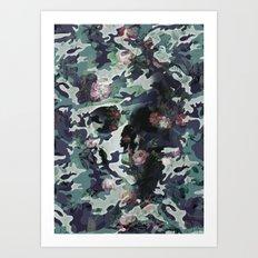 Camouflage Skull V2 Art Print