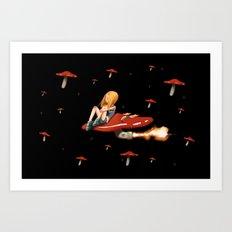Mushroom Space Art Print