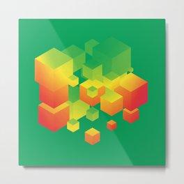 Fly Cube N1.1 Metal Print