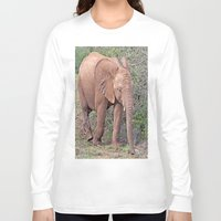 baby elephant Long Sleeve T-shirts featuring Baby Elephant by Lynn Bolt