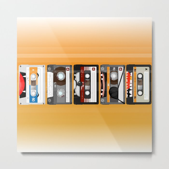 The cassette tape Metal Print