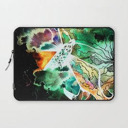 Supermassive black holes at the cores of the galaxies blast out radiation and ultra-fast winds Laptop Sleeve