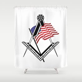 USA freemasonry symbol Shower Curtain