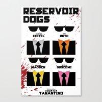 reservoir dogs Canvas Prints featuring Reservoir Dogs by Jacob Slavik