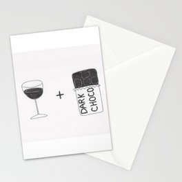 Wine and Chocolate Stationery Cards