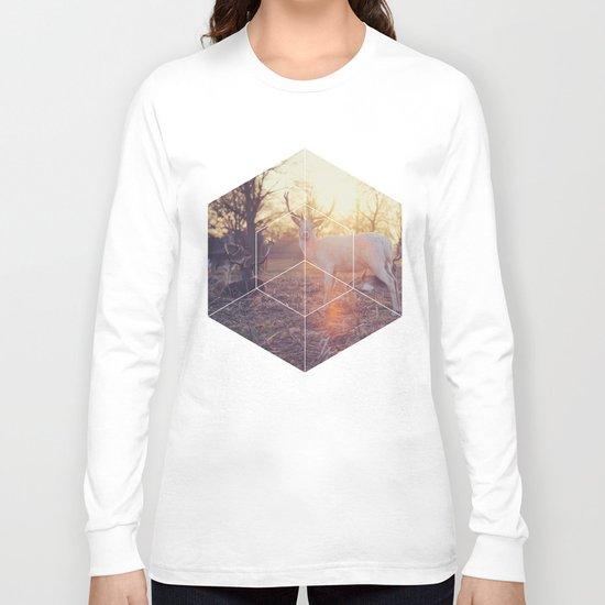 Magical Deer - Geometric Photography Long Sleeve T-shirt