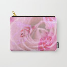 Lovely pink vintage roses for valentine Carry-All Pouch