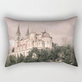 Basilica of Santa Maria la Real of Covadonga (retro) Rectangular Pillow