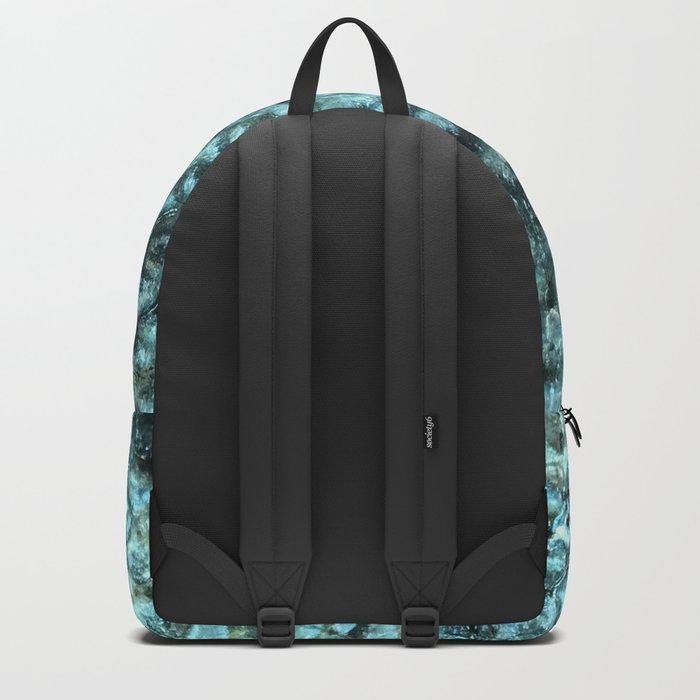 Blue aqua mermaid scales Backpack
