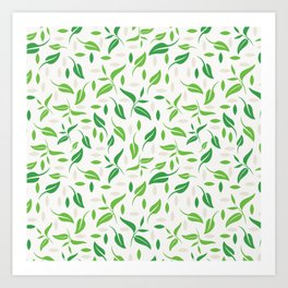 Tea leaves pattern Abstract Art Print