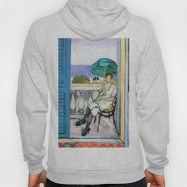 Henri Matisse Woman with a Green Parasol on a Balcony Hoody
