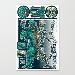 Kaiju Monster Canvas Print