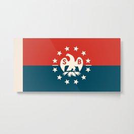 new england snow bird flag Metal Print