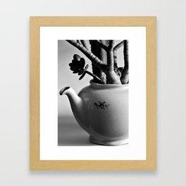 green pot Framed Art Print