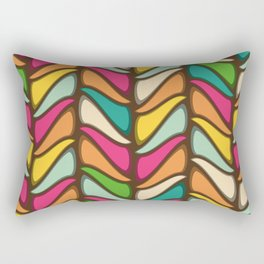 Vintage 60s geometry pattern 21 Rectangular Pillow