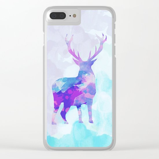 Abstract Deer II Clear iPhone Case