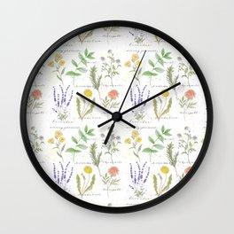 Medicinal Herbs Wall Clock