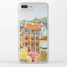 Brussels: neighborhood in Forest area. Clear iPhone Case