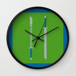 Cowabunga (Leonardo Version) Wall Clock
