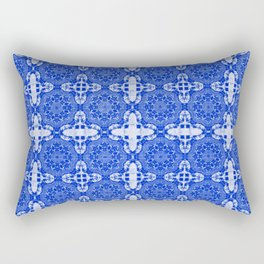 Sapphire Blue Abstract Rectangular Pillow